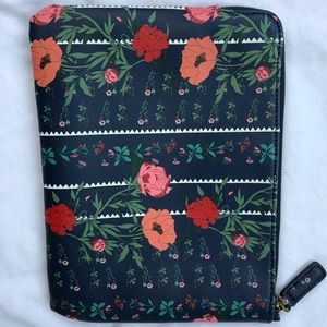 Anthropologie cosmetic bag 7x9.5 blue pink & red